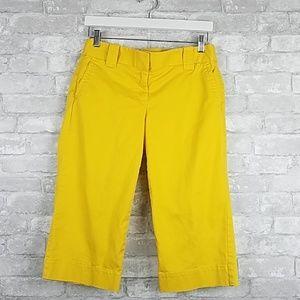 J. Crew | 4 Yellow Chino Stretch Favorite Capris